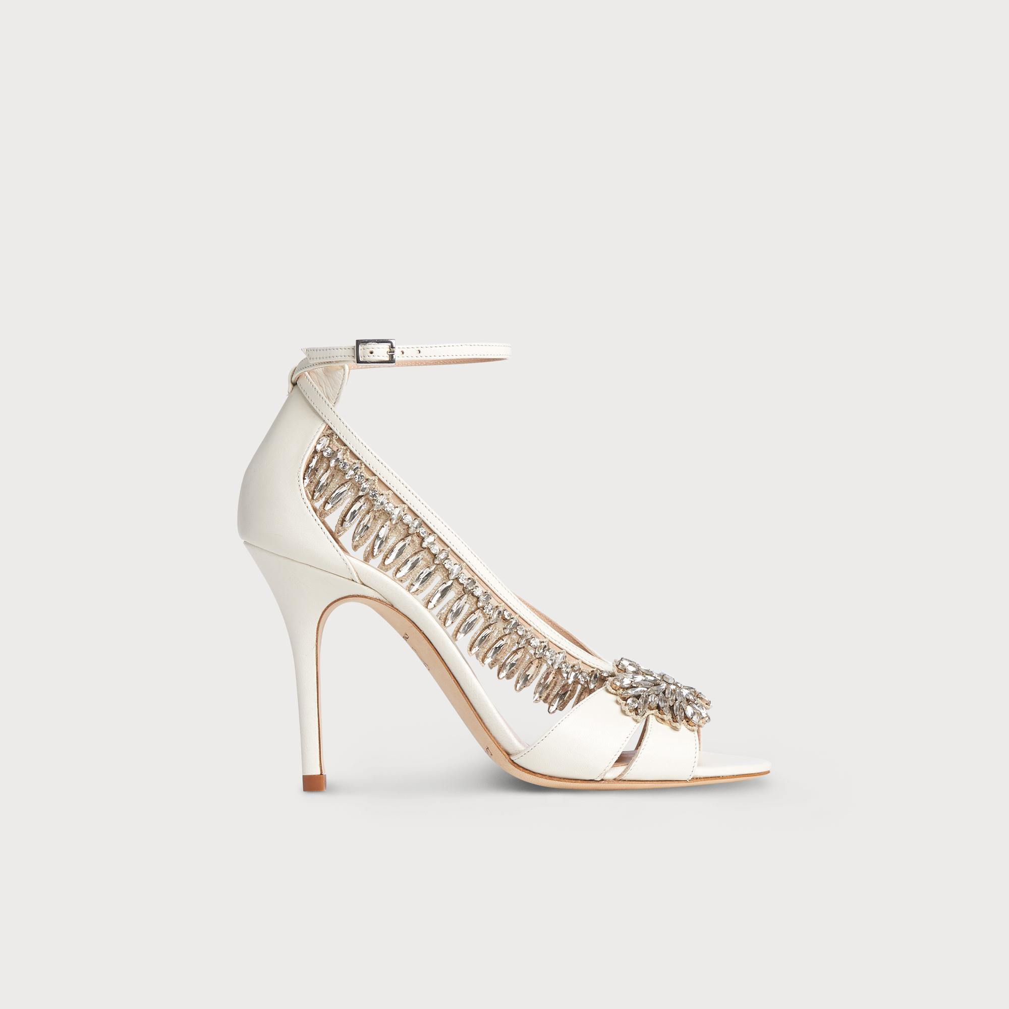 c1bce6bf790 Dahlia Ivory Nappa Crystals Formal Sandals