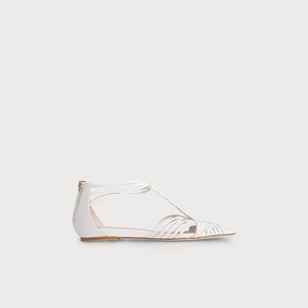 62a609e29c57 Deedee Ivory Flat Sandals