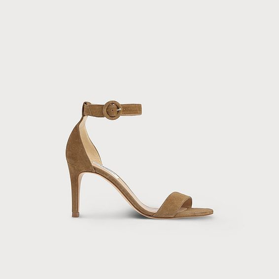 Dora Brown Suede Sandals