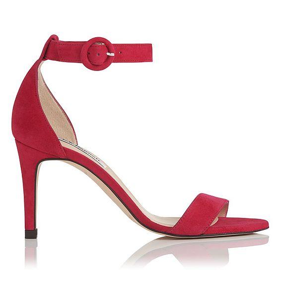Dora Pink Suede Sandals