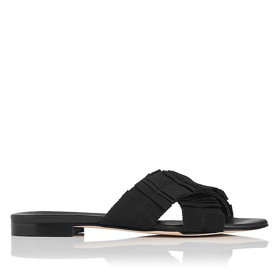 Dottie Black Flat Sandals