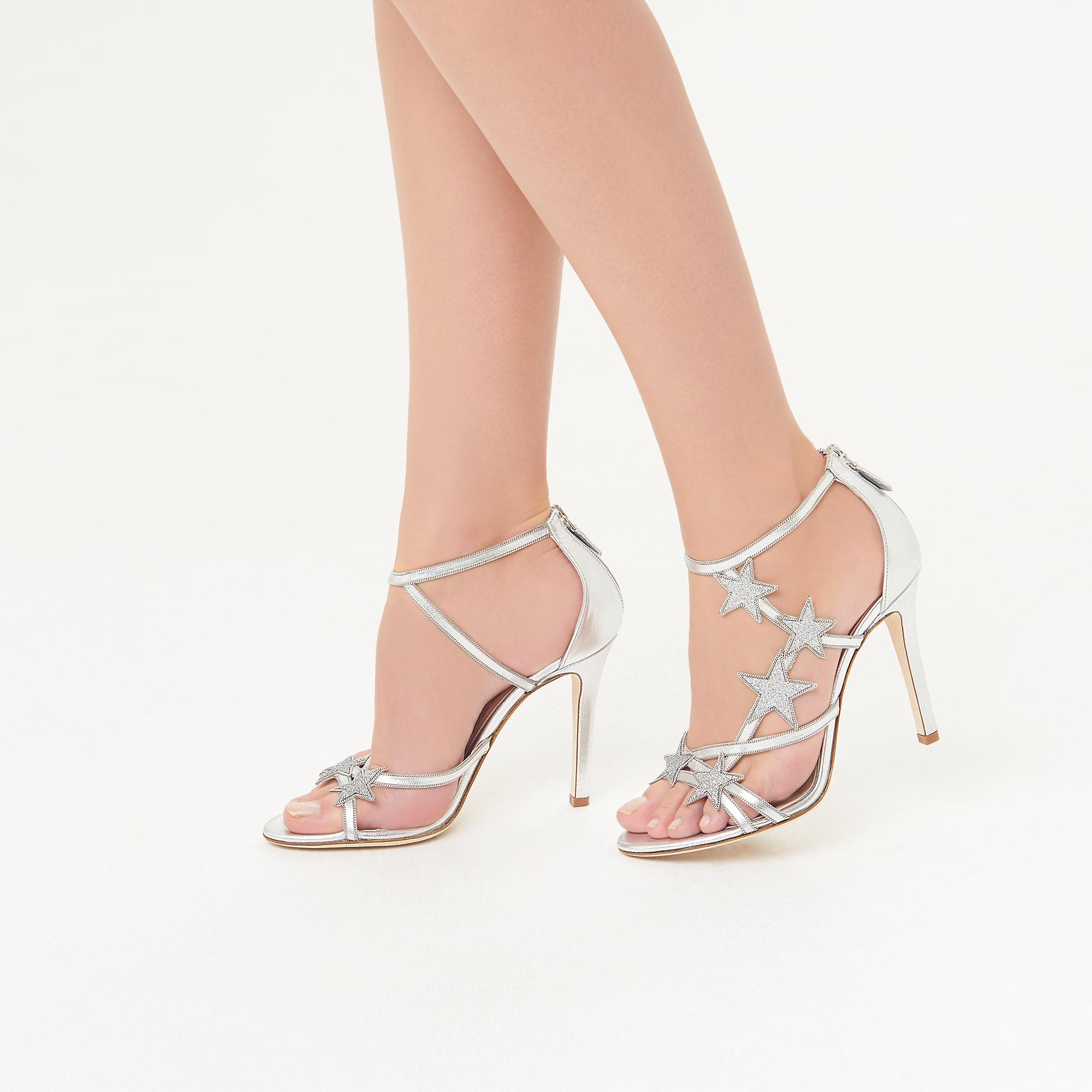 51a142fee18 Felicity Silver Leather Sandals