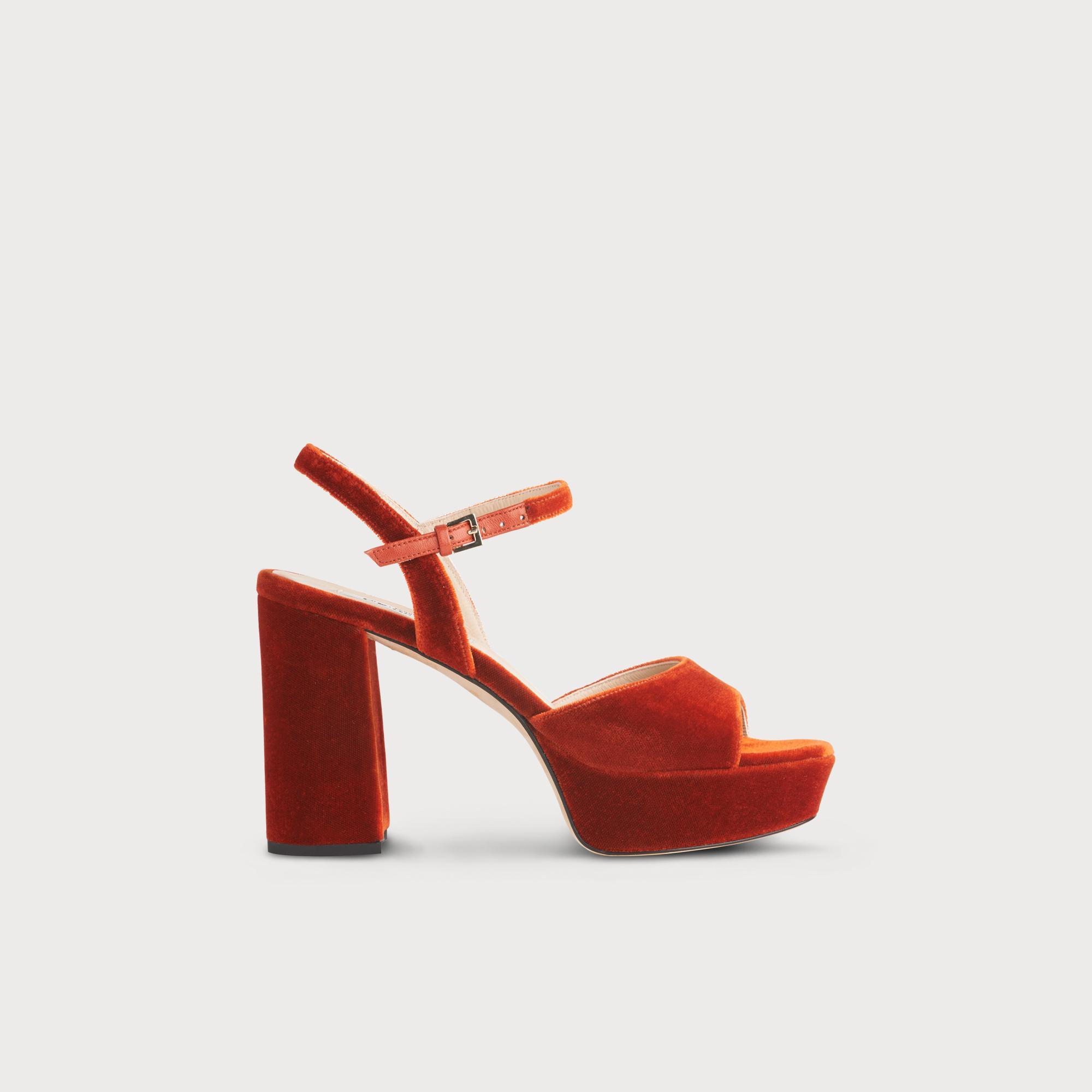 4c39f2b4729 Henie Red Velvet Sandals | Shoes | L.K. Bennett