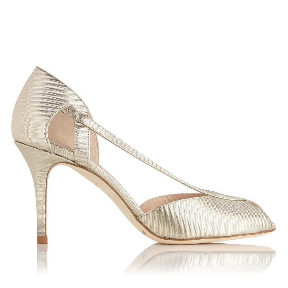 L.K. Bennett Leather Embossed Sandals Best Place Cheap Price YkFeLWYq