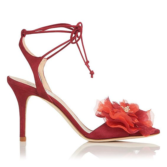 Scarlet Poppy Suede Sandals