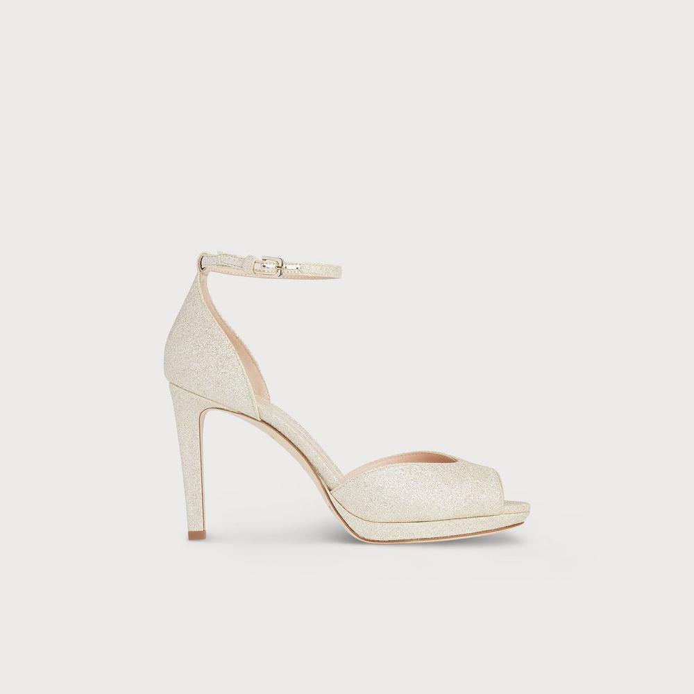 41d372ef955 Yasmin Platinum Sandals. LKB X JENNY PACKHAMYasmin Platinum Sandals