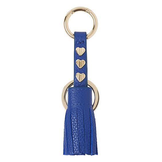 Paula Blue Leather Keyring