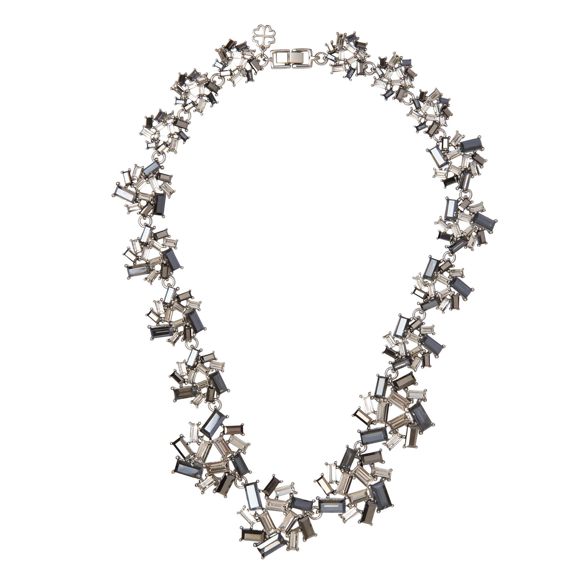 Amara Dark Grey Crystal Necklace