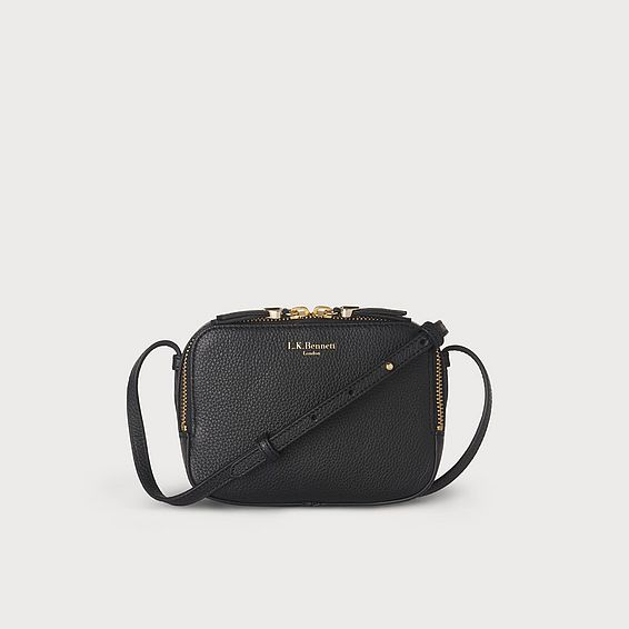 Maggie Black Italian Leather Pouch