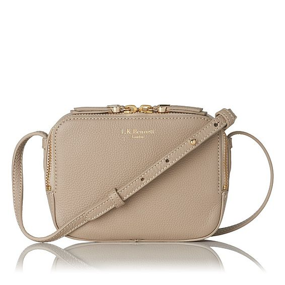 Maggie Taupe Italian Leather Pouch