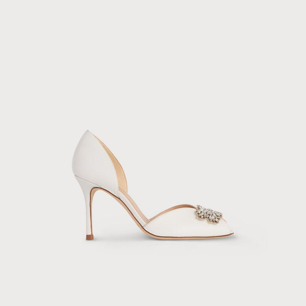 262208a75cc Beatrice Ivory Satin Crystals Courts