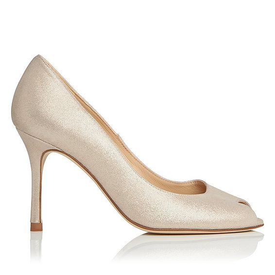 Margo Gold Suede Open Courts