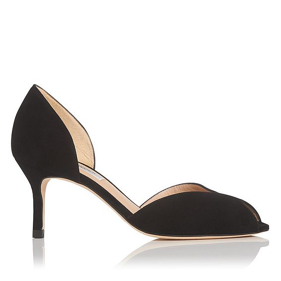 Tatiana Black Suede Courts
