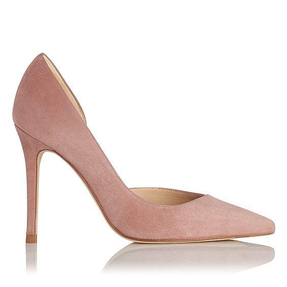 Zara Dark Pink Suede Courts