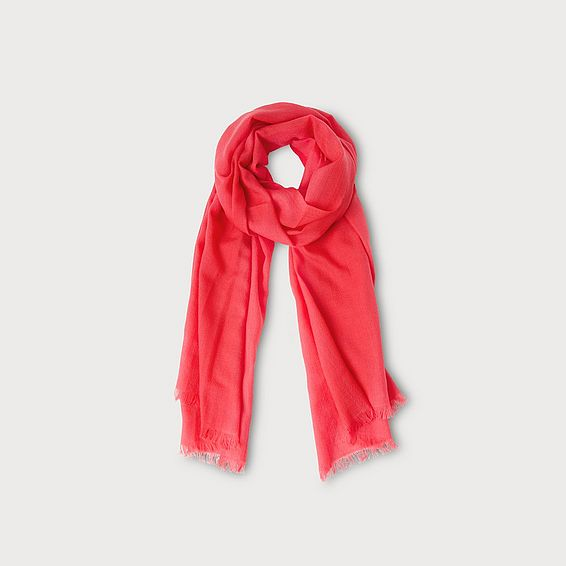 Gracia Geranium Wool Scarf