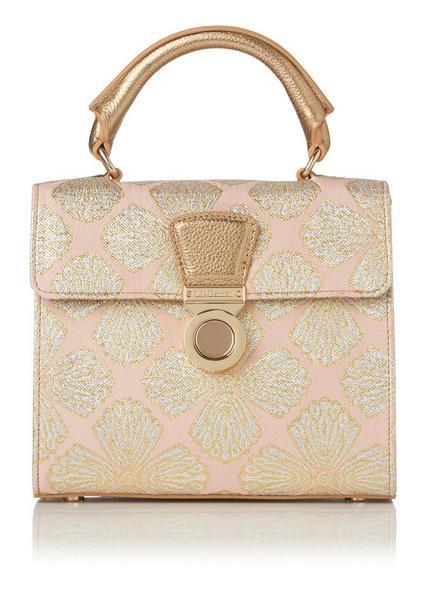 Amelia Pink Jacquard Shoulder Bag