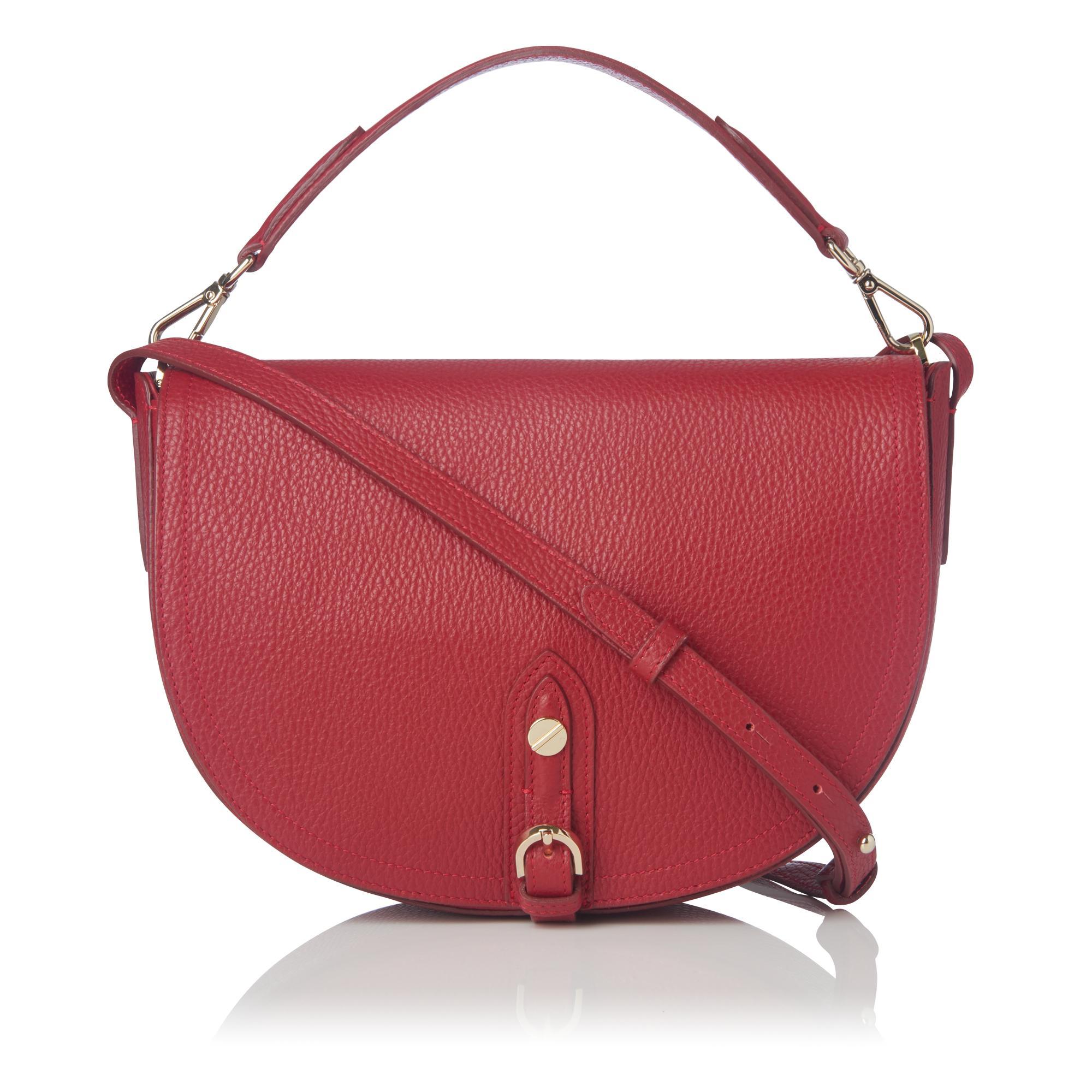 Andrea Poppy Leather Shoulder Bag