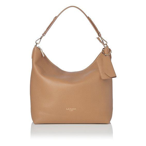 Margot Tan Leather Shoulder Bag