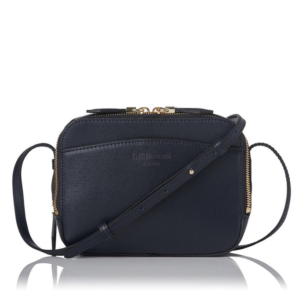 Mariel Blue Leather Shoulder Bag