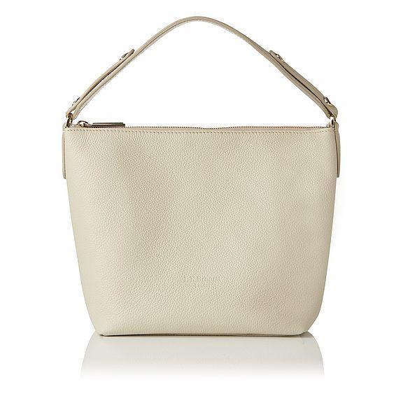 Millie Ivory Leather Shoulder Bag