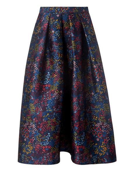 Aurorie Blue Floral Skirt