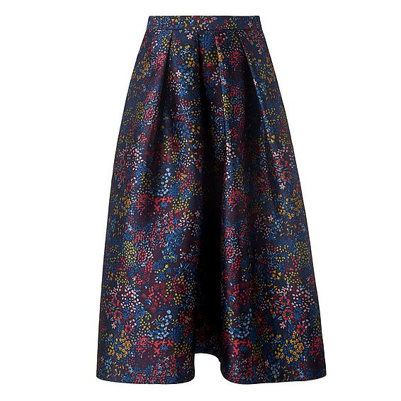 Aurorie Blue Floral Skirt