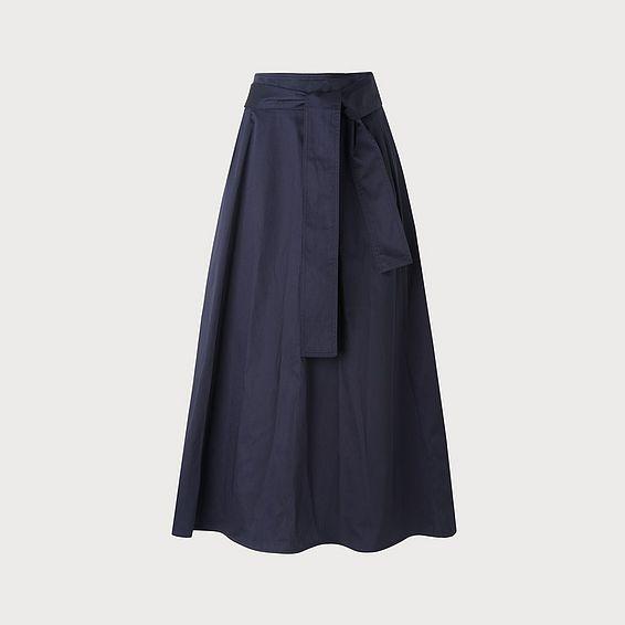 Lianne Navy Cotton Skirt