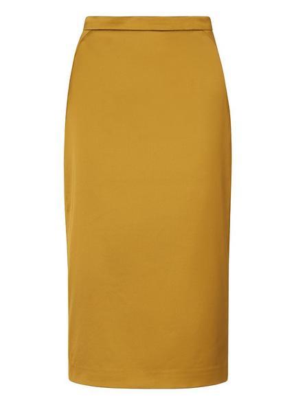 Miranda Yellow Sateen Skirt