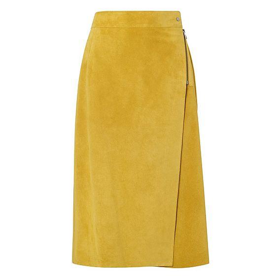 Reilley Ochre Suede Skirt