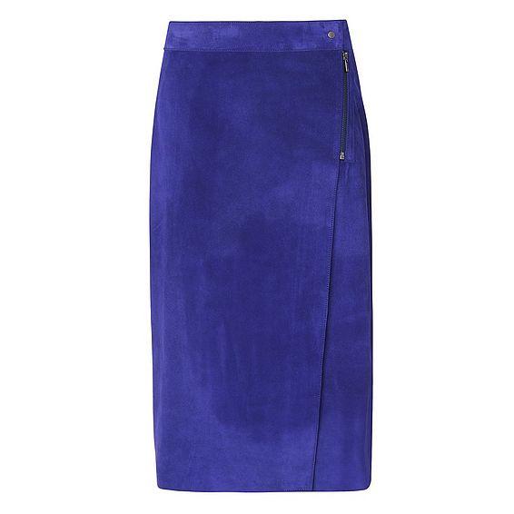 Reilley Violet Suede Skirt
