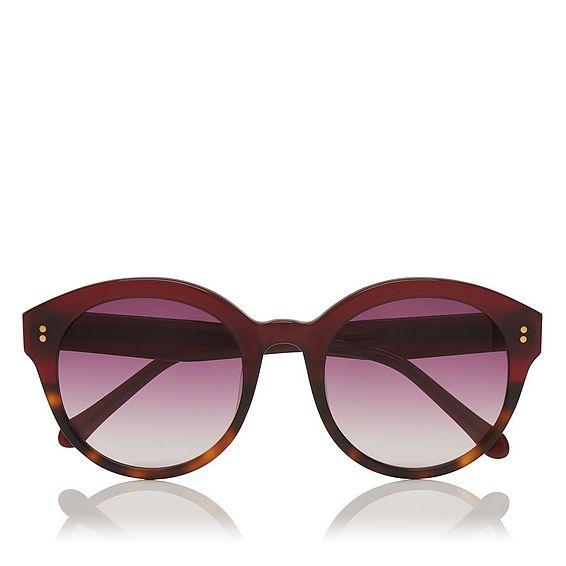 Adriana Oxblood Tortoiseshell Sunglasses
