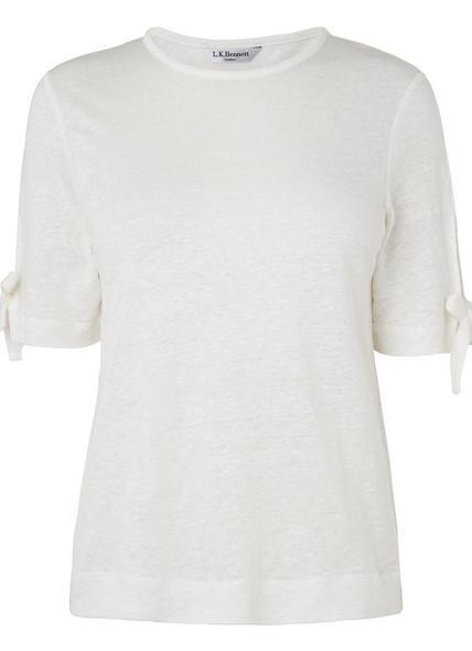 Chloee Cream Linen Jersey Top