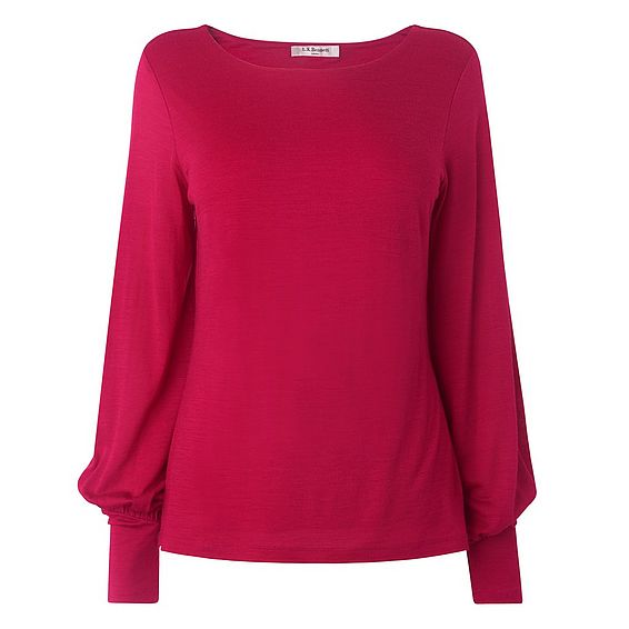 Karina Raspberry Jersey Top