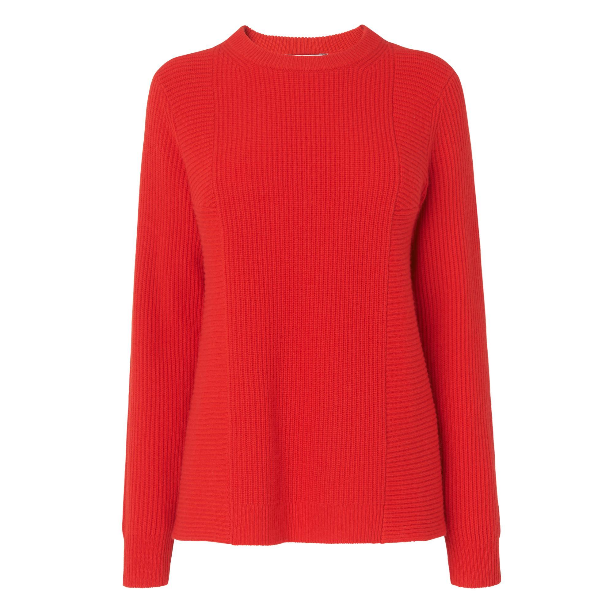 Alma Red Wool Cashmere Jumper