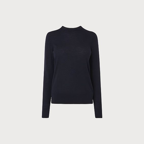 Ceries Navy Merino Jumper