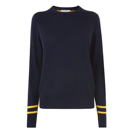 Lilis Blue Yellow Wool Jumper