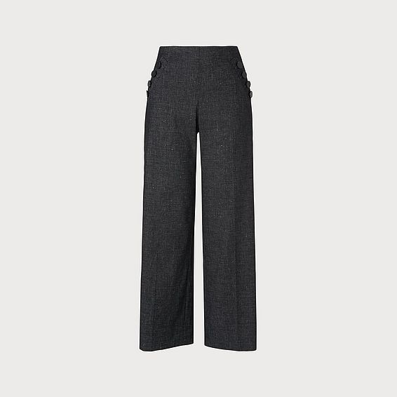 Ellie Navy Cotton Trouser