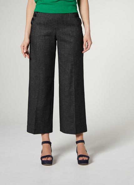 Ellie Navy Cotton Trouser