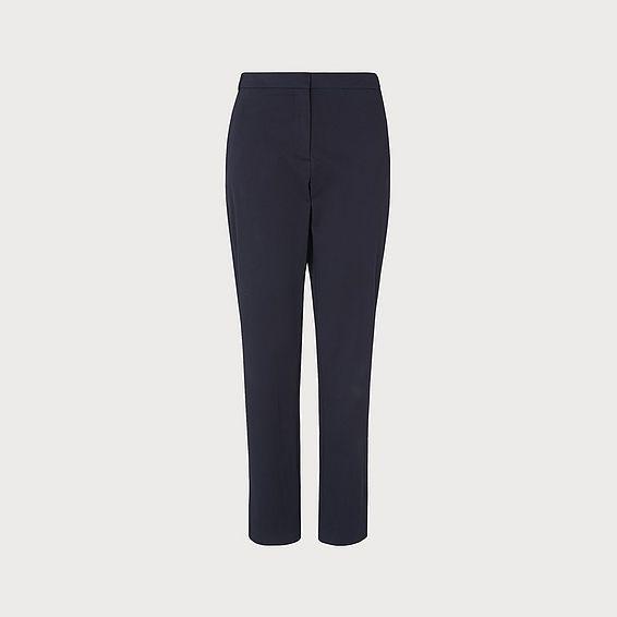 Gretta Navy Cotton Trouser