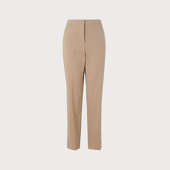 Gretta Taupe Cotton Trouser