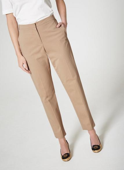 Gretta Taupe Cotton Trouser