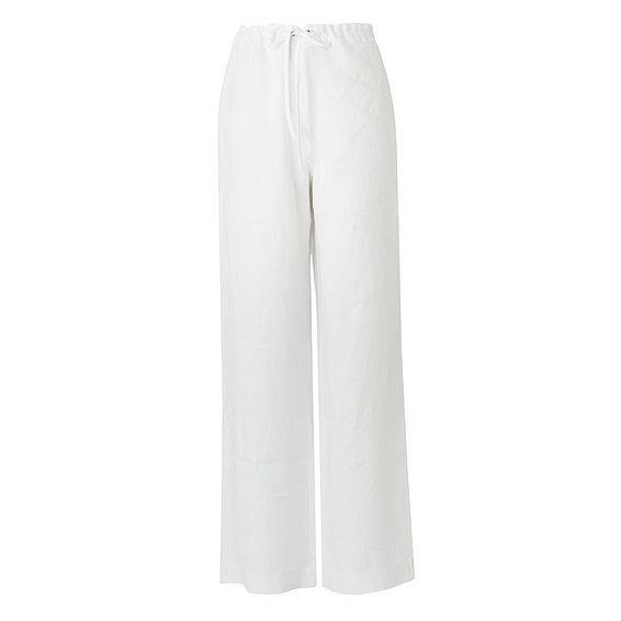 Oriole White Linen Trouser