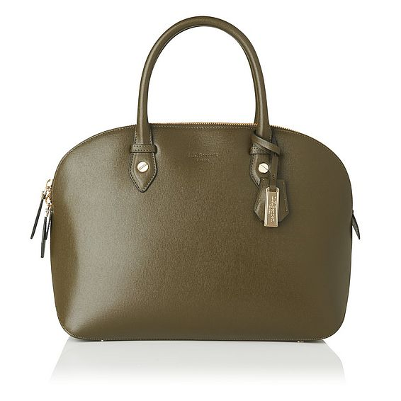 Camilla Khaki Leather Tote Bag