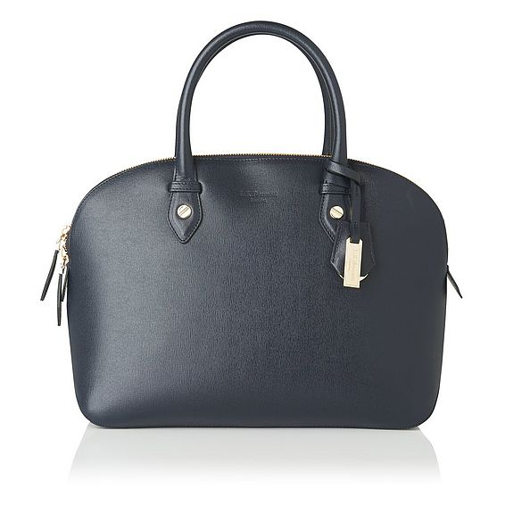 Camilla Navy Leather Tote Bag