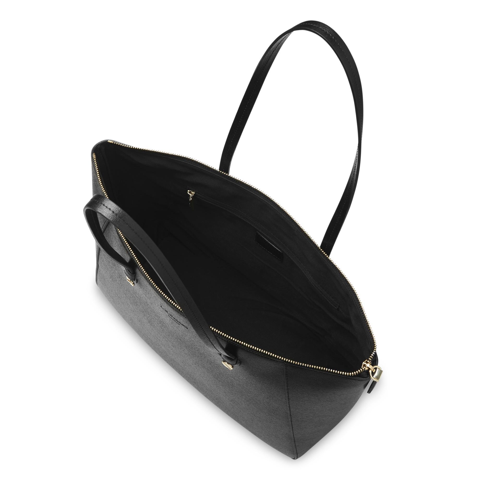 654ff94d Marcia Black Leather Tote Bag