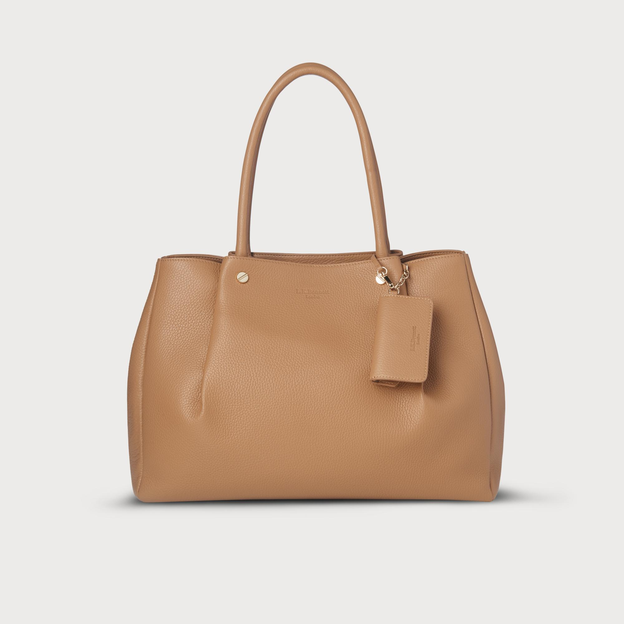 9ce10f331c6b Regan Tan Leather Tote Bag