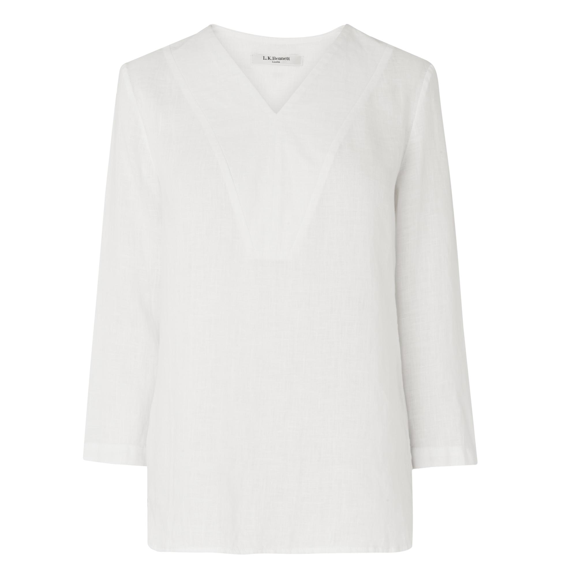 Alania White Linen Blouse