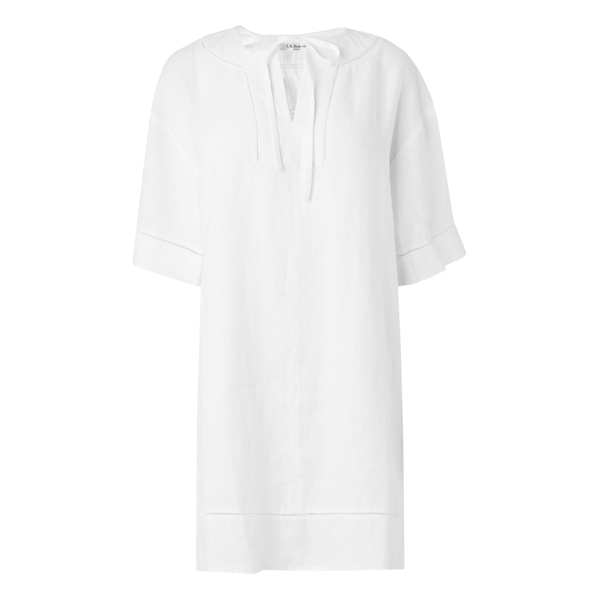 Alena White Linen Tunic