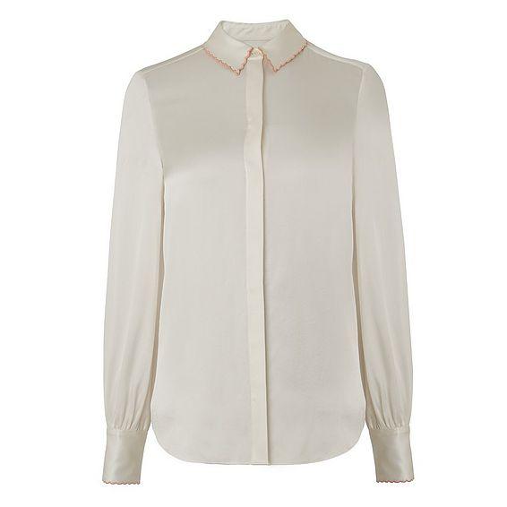 Fran Cream Silk Woven Top