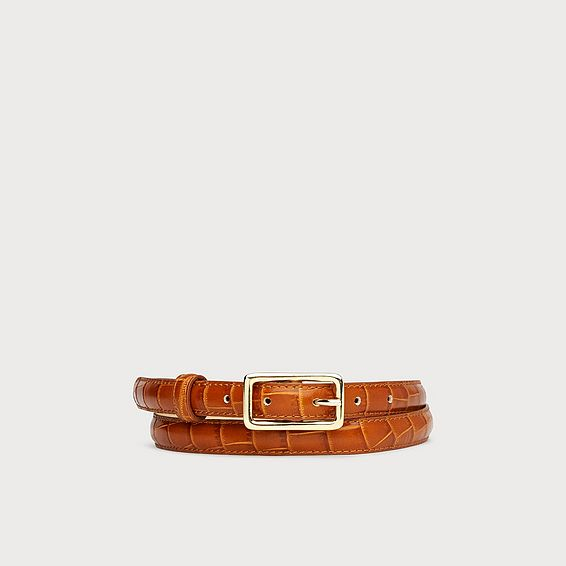 5170b52dd ... WOMEN'S BELTS AND DISCOVER THE PIECE TO HELP YOU CREATE THE PERFECT  SILHOUETTE. Glenda Tan Croc Effect Leather Belt